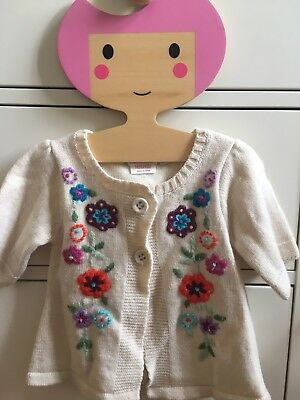 Jojo Maman Bebe Embroidered Wool Cardigan 12-18mths