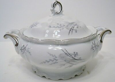 Edelstein Bavaria Covered Serving Bowl Maria Theriesa Plant and Blossom Pattern