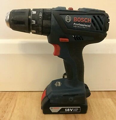 bosch cordless 18v drill screwdriver gsb 18 be 2 li. Black Bedroom Furniture Sets. Home Design Ideas