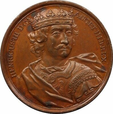 1731 Dassier Kings And Queens Of England Bronze Medal of HENRY III, 1216-1272