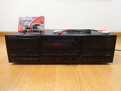Kenwood KX-W791 Dual Record Auto-Reverse Cassette Deck 1991 Japan TESTED 100%