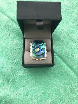 Chrysocolla and Stirling Silver Ring