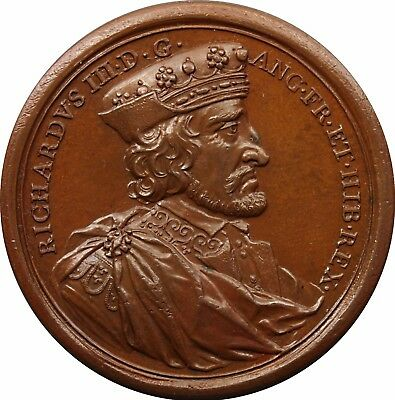 1731 Dassier Kings And Queens Of England Bronze Medal of RICHARD III, 1483-1485
