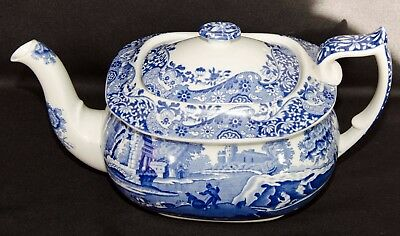 Spode Italian Pattern 2 Pint Teapot, Perfect Condition, Old Blue Backstamp