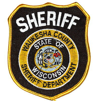WAUKESHA COUNTY WISCONSIN WI Police Sheriff Patch STATE SEAL CITY SEAL ~