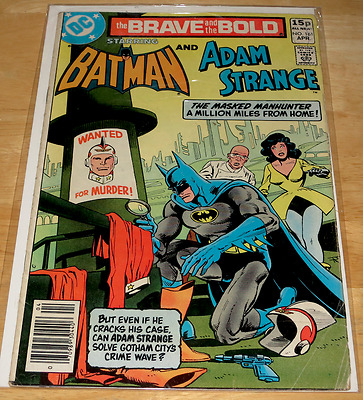 DC Comics THE BRAVE AND THE BOLD Batman and Adam Strange #161 April 1980