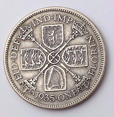 Dated : 1935 - Silver Coin - One Florin / Two Shillings - King George V