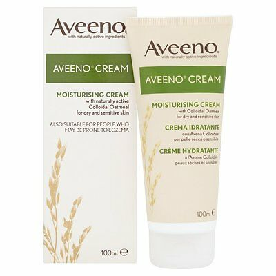 Aveeno Daily Moisturising Cream with active ingredients - 100ml *2 pack bundle*