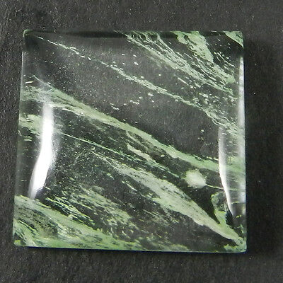 1 Pcs Aqua Crackle Glass Gemstone 22x22mm Square Cab 23.65 Cts Stones ER6851