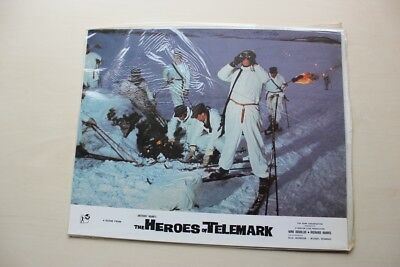 The Heroes Of Telemark - Full Set Of 8 British Lobby Cards