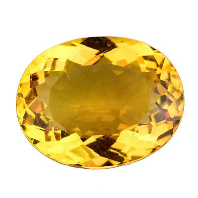 4.535Cts Attractive Luster Yellow Natural Citrine Oval Loose Gemstones See Video
