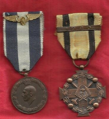 Greece:1940-41 Wwii,a Military Medal Cross & A Greek-Italian War Medal