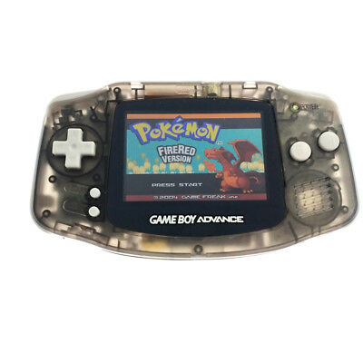 Transparent Black Game Boy Advance Console w/ AGS-101 Brighter Backlight Screen