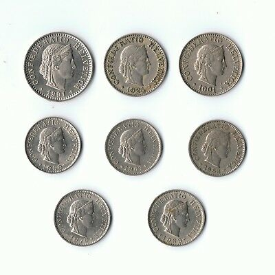 Switzerland Collection of coins 1901 to 1970
