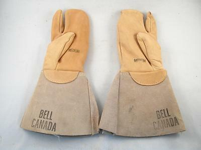 Vintage Bell Canada Telephone Company Employee Leather Mitt Mitten Glove Unused