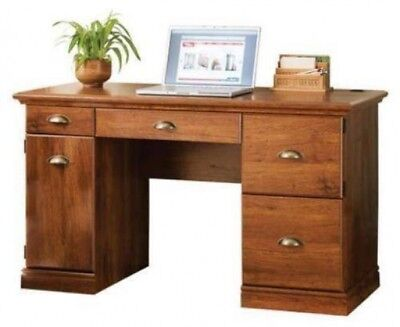 Better Homes and Gardens Brown Oak Finish antique brass fittings Computer Desk