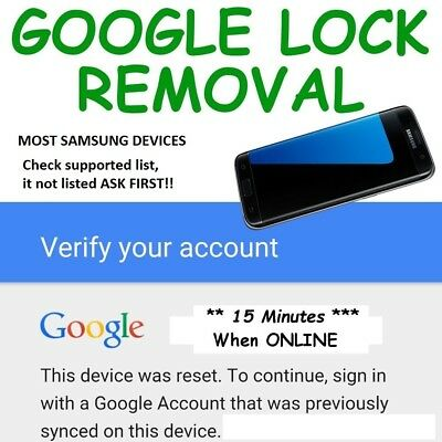 SAMSUNG Galaxy S8/S8+/Note 8 Google Account Bypass Removal Service INSTANT!!!