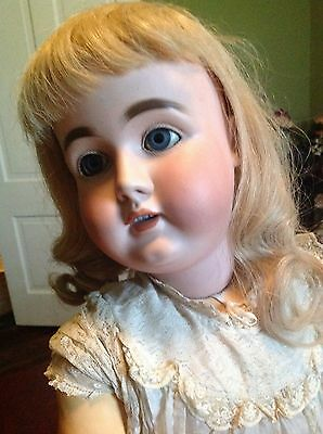 Large Antique German  Doll -36""