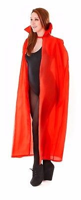 Halloween Dracula Vampire Red Devil Cape Vampires Ladies Men's Costume Accessory