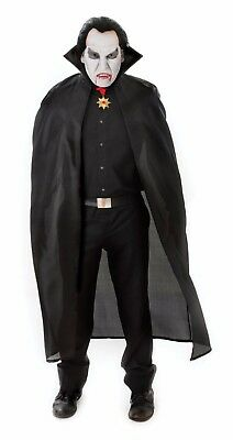 Halloween Cape Cloak Black Devil Vampires Ladies Dracula Unisex Fancy Dress
