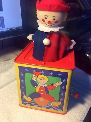 "Vintage? S.A. Inc. Jack-In-The-Box Boy Clown 5 1/2"" Music Box Pop-Up Toy PA-8097"