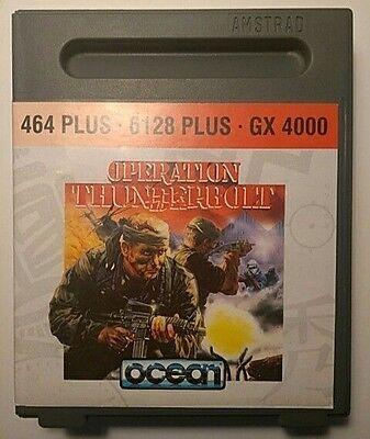 Operation Thunderbolt BOXED WITH MANUAL. Amstrad GX4000 464 Plus 6128 Plus