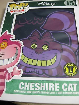 Funko POP! Cheshire Cat#15 Tee Shirt Large Hot Topic Exclusive Alice Wonderland