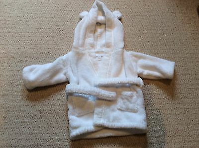 The Little White Company White Baby Dressing Gown Size 0-6 Months