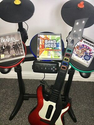 ps3 band hero Plus Drums And 3 DVDs
