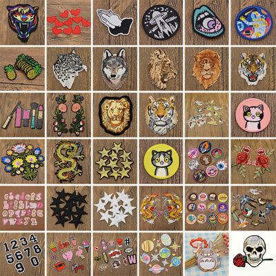 DIY Embroidery Iron Sew On Patches Badge Fabric Cloth Bag Applique Craft Decor