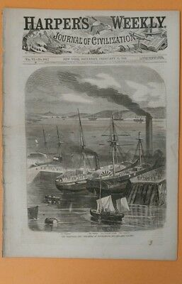 Harper's Weekly 2/15/1862 complete Civil War  The Burnside Expedition