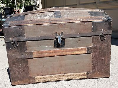 Antique Dome Top Trunk Storage Chest