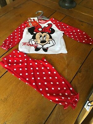 Bnwt Boots Baby Girl Mini Club Disney Minnie Mouse Pyjamas Age 9-12 Months