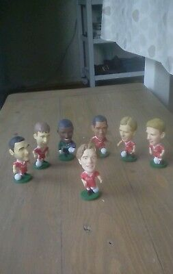 Assortment of past liverpool players  6.5cm