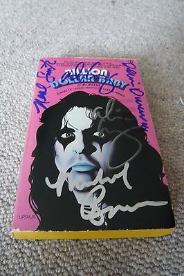 Billion Dollar Baby Soft Cover Book Signed By Four Members Original Alice Cooper