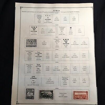 1923-1947 Syria Postage Stamps Used, Unused Lot of 30 Stamps