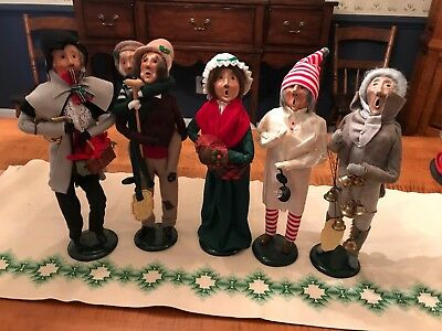 Vintage Byers Choice Dickens A Christmas Carol Set of 5 Carolers w/ 3 1st eds