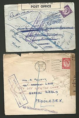 1950's GREAT BRITAIN POST OFFICE OFFICIALY SEALED COVERS, POSTAL HISTORY