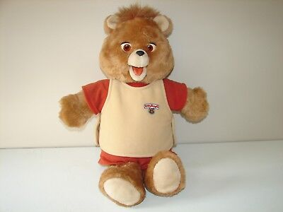 Teddy Ruxpin mechanical toy worlds of wonder clean condition Not working
