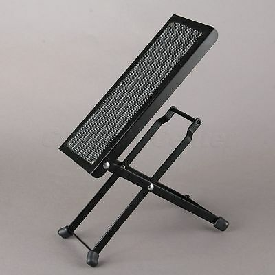 Folding Guitar Drum/cajon Pedal Anti-Slip Foot Rest stand/6 Adjustable Level
