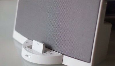 Wireless Bluetooth Music Receiver For Bose SoundDock 1st Generation V1 In White