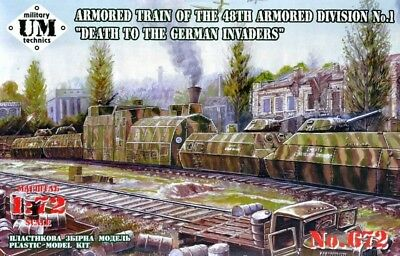 Unimodels ® 672 Armored Train 48th Armored Divison No. 1 Panzerzug Death 1:72