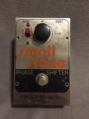 Vintage Electro Harmonix EHX Small Stone Phase Shifter Effects Pedal 1970s