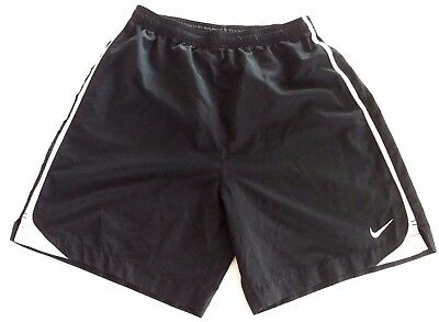 Men's Nike Dri Fit Athletic Shorts Size Large Black White Blue Running Light Dry