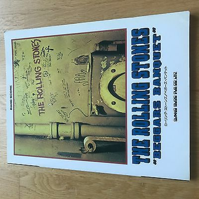 Rare Rolling Stones Beggars Banquet Guitar Band Tab Japanese Collector Item
