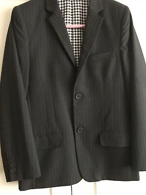 Charcoal Grey Pinstripe Suit M&S Age 11