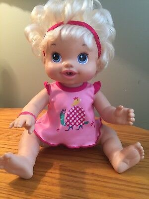 Baby Alive Wets N Wiggles 2010 Blonde Hair Interactive Doll Lots of Laughs