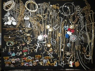 Estate Vintage to Now Large Lot of Costume Jewelry #1