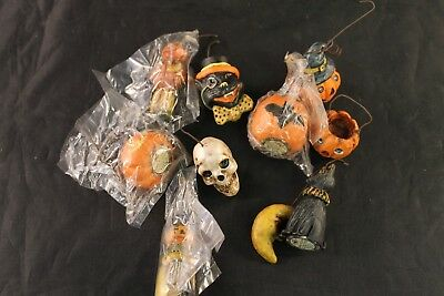 Lot of 10 Halloween Tree Ornaments by the Salem Collection L2