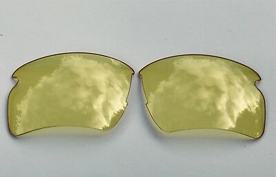 Hd Clear Yellow Night Vision  Replacement Oakley Flak Jacket 2.0Xl Lenses